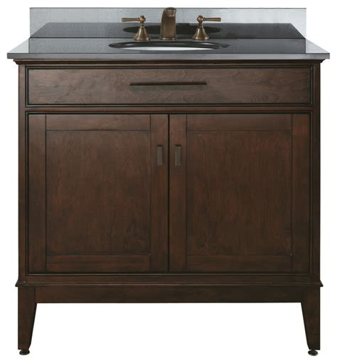 transitional bathroom vanities 36 vanity combo black granite top transitional