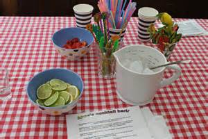 We provided plenty of juice and mixers for the cocktails