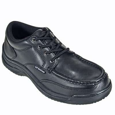 black oxford work shoes skidbuster s5074 mens black oxford slip resistant shoe
