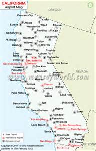 map of california with airports california map