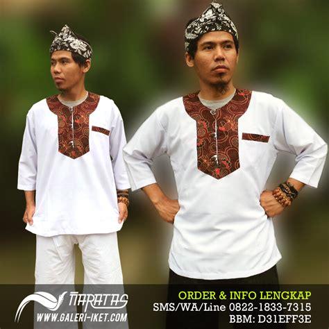 pakaian adat sunda pangsi baju adat tradisional