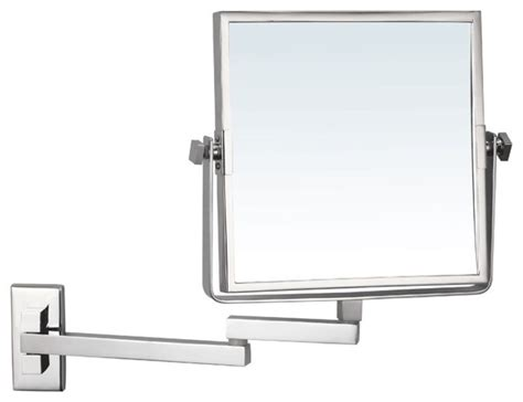 Wall Mounted Bathroom Mirror Wall Mounted Magnifying Mirror Contemporary Makeup Mirrors By Thebathoutlet