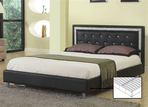 Black And Chrome Bedroom Furniture Bed Black Rhinestone Jewels And Chrome Legs If 162 Furniture Outlet