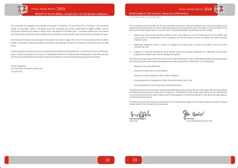 Zenith Bank Letterhead Zenith Bank Annual Report 2009