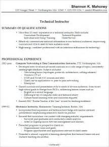 Resume Sles For Apprentice Electrician Technology Technician Resume Sales Technician Lewesmr