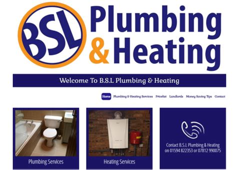 Plumbing And Heating Websites by A R Website Designs Portfolio
