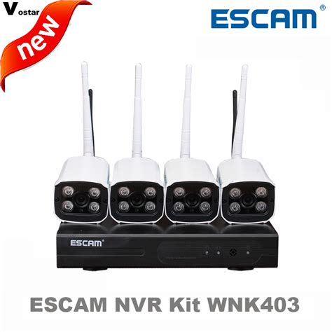 Wireless Nvr Kit 130w Hd 4ch With 4 Cctv 960p 160513 Diskon 1 escam 4ch wifi nvr kit wnk403 wireless nvr kit p2p 720p hd outdoor ir vision security ip