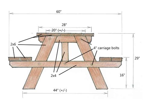 woodwork wood picnic table plans  plans