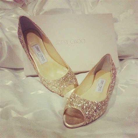 jimmy choo flat wedding shoes gold glitter jimmy choo peep toe flats these would be