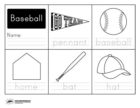 printable baseball activity sheets baseball handwriting free worksheet paging supermom