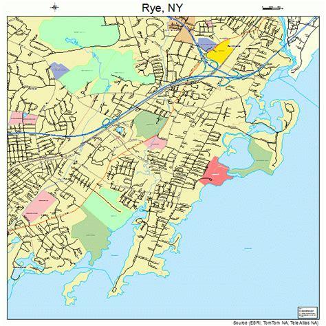 rye new york map new york map