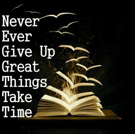 Kaos Quotes Things Take Time great things take time never give up quotes