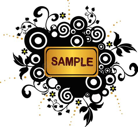floral grunge frame elements royalty free vector image grunge banner with circles and floral elements vector royalty free stock photography image