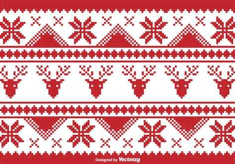 christmas pattern border pixilated christmas traditional borders vector download