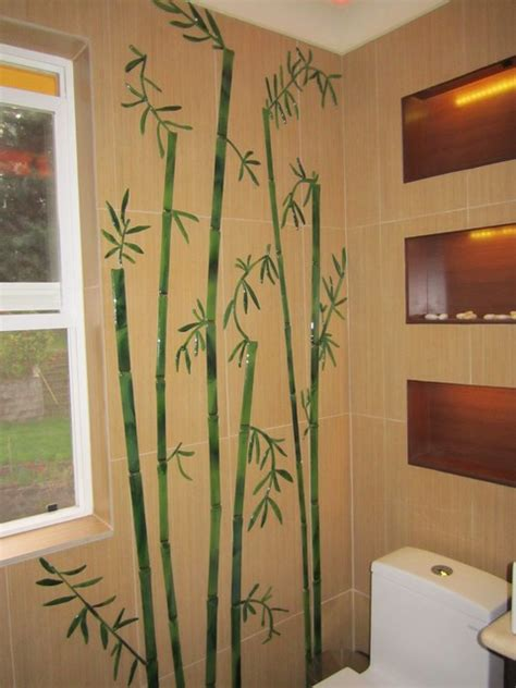 bamboo plant in bathroom glass decorative tiles for bathroom bamboo stalks