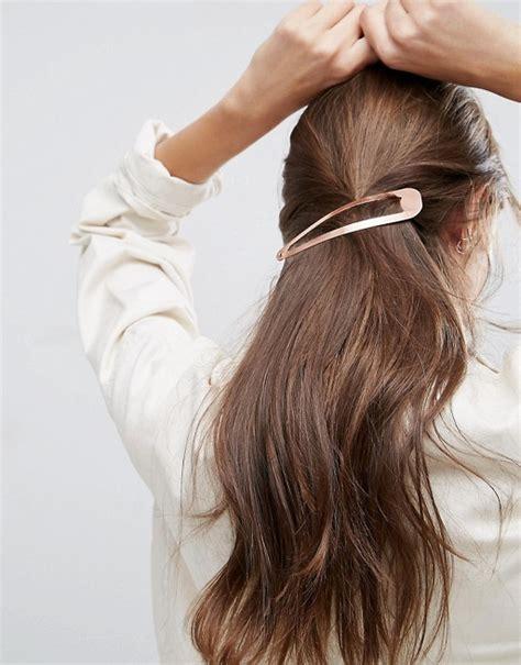 Loungefly Hair Pins At Asos by Asos Asos Oversize Gold Snap Hair Clip
