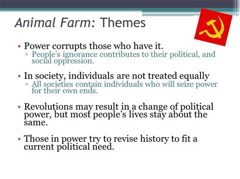 themes and exles in animal farm animal farm a fairy story george orwell ppt video
