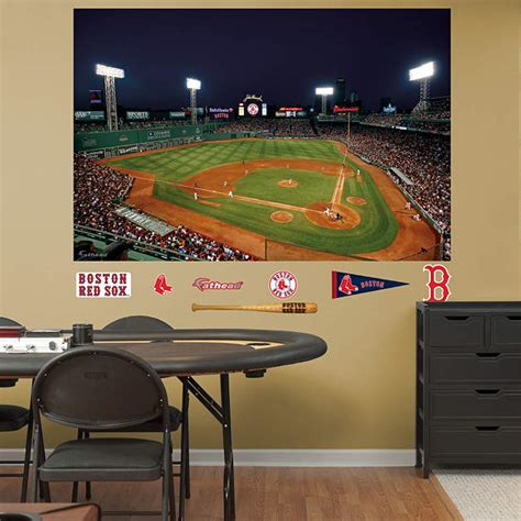 fenway park wall mural inside fenway park at mural wall decal shop fathead 174 for boston sox decor