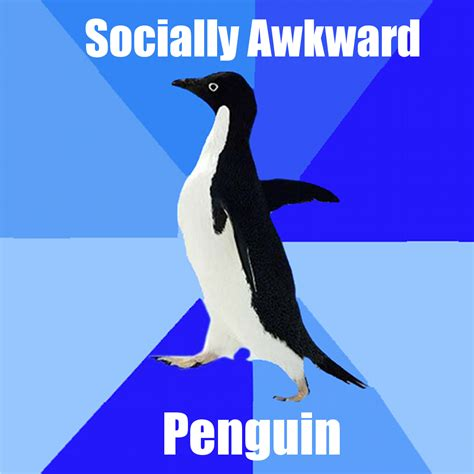 Socially Awkward Penguin Meme - connecting to the itunes store