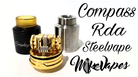 Rda Icon 24mm Clone compass rda by steel vape build wick mike vapes