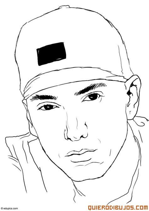 imagenes de amor hip hop para dibujar retrato de eminem para colorear