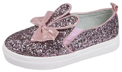 glitter shoes glitter shoes 3d bunny ears slip on pumps casual
