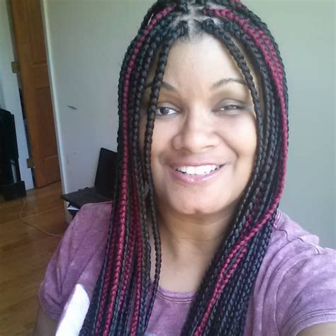 box braids with kanekalon hair box braids hair color 2 and pink i forgot what number