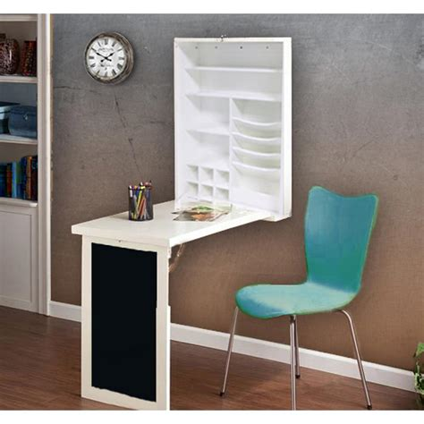 floating white desk utopia alley fold white floating hanging desk with