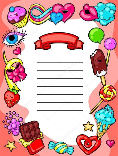 imagenes animadas kawaii diploma de kawaii con dulces y caramelos dulce locura