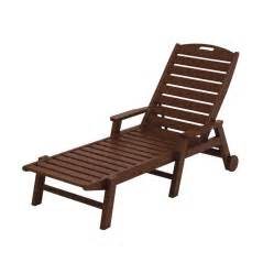 Patio Chaise Lounge Chair Shop Polywood Nautical Mahogany Plastic Patio Chaise Lounge Chair At Lowes