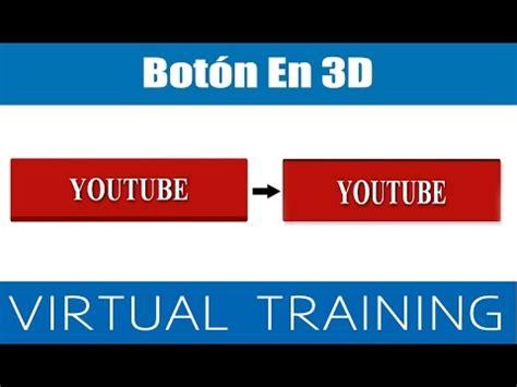 tutorial html y css en español tutorial html y css bot 243 n en 3d youtube