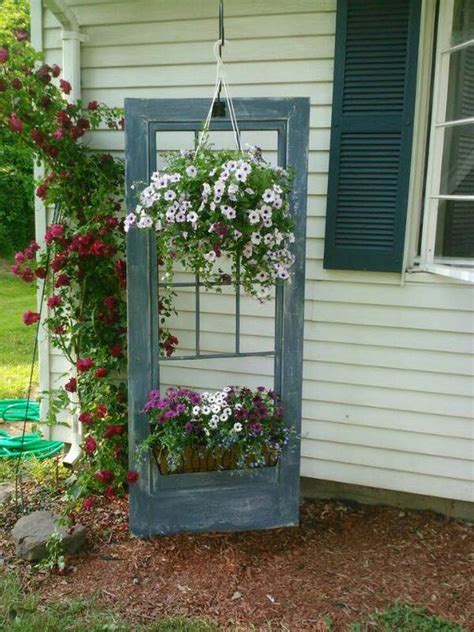 Decorate Garden With Recycling Old Doors 20 Creative Garden Window Decorating Ideas