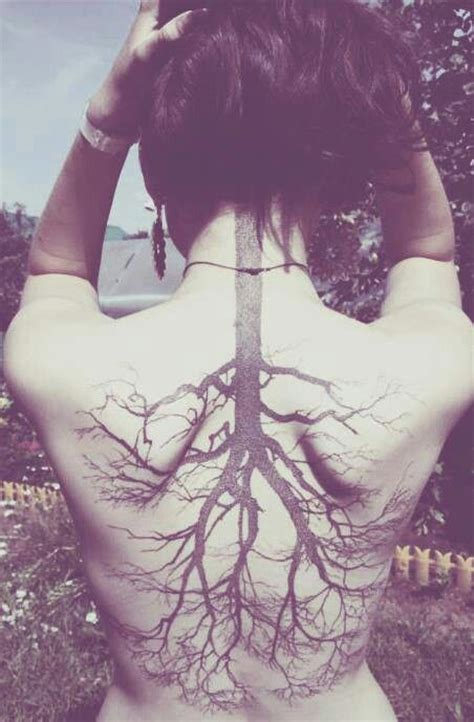 tattoo down your back tattoo back big tree branches neck body mod wish