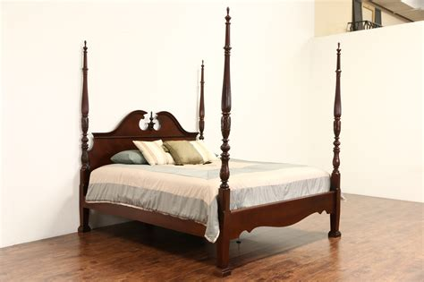 poster bed sold king size rice plantation 4 poster bed carved