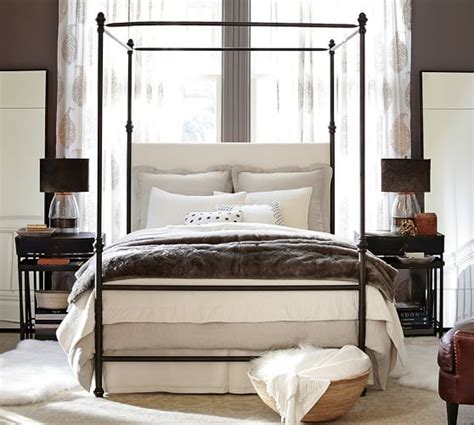 canopied bed antonia canopy bed pottery barn