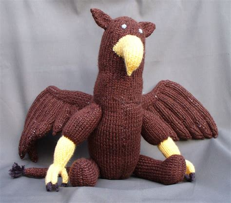 knit stuffed animals custom knitted stuffed animal gryphon by dragonlady s