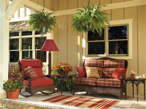 front porch decorating ideas    country