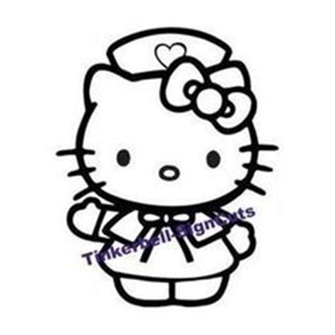 hello kitty nurse coloring pages 1000 images about silhouette car vinyl decals on