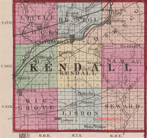 kendall county texas map kendall county illinois 1870 map oswego