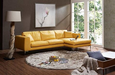 yellow premium leather sectional sofa leather sectionals