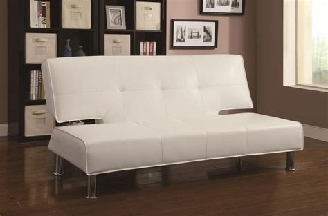 coaster 300296 white leather sofa bed steal a sofa