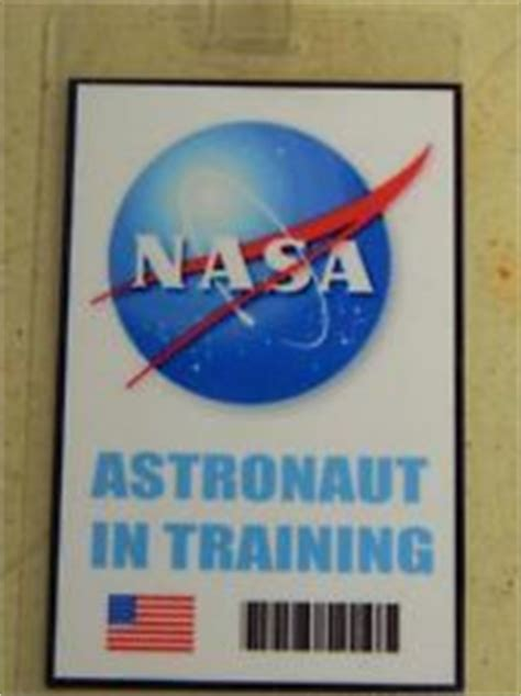 Nasa Id Card Badge National Aeronautics Space Administration From The Identity Props Store Nasa Name Tag Template