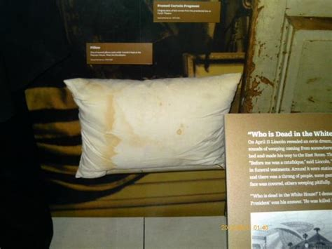 Abraham Lincoln Pillow by Bloody Pillow On Which President Lincoln S Rested The