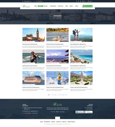 template joomla grid preview sj urline an innovation for travel news