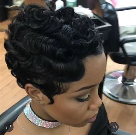 black hairstyles with finger wave sides and curls on top 369 best cute styles fingerwaves soft curls images on