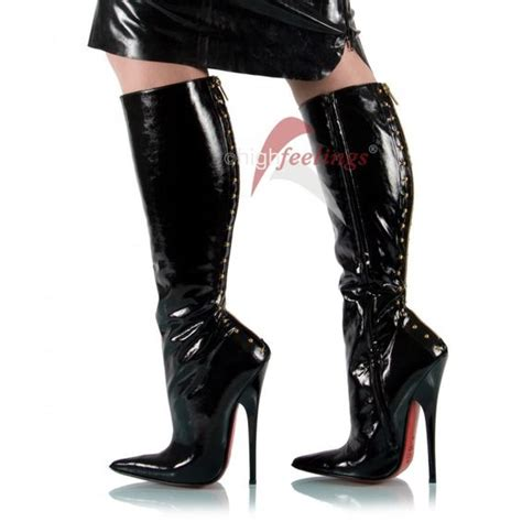 black patent high heel boots black patent rear lacing high heel boots shoes