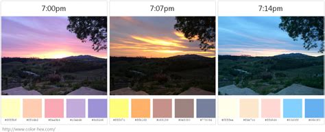 palette instant color szonetka koloryzuj ca 20 sunset color palettes dataremixed