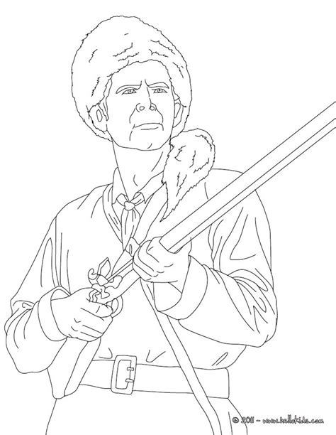 Davy Crockett Coloring Page davy crockett coloring pages hellokids