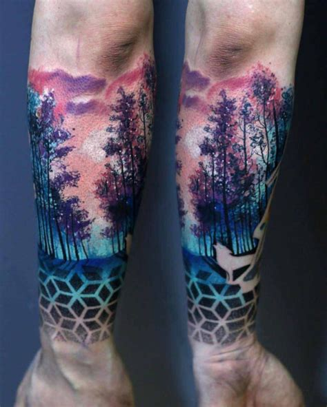 watercolor tattoos colorado springs wrist forest sleeve boulderinn colorado tattoos