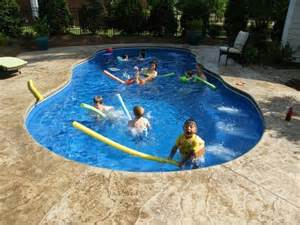 pool backyard designs looking fiberglass swimming